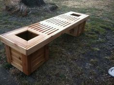 Planter bench | Do It Yourself Home Projects from Ana White