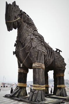 The Trojan Horse. Troy Horse, Ancient Troy, City Of Troy, Trojan War, Hades And Persephone, Wooden Horse, A Level Art, Ancient Greece, Greek Mythology
