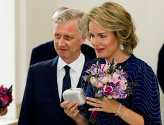 King Philippe, Queen Mathilde, Princess Astrid and Prince Lorenz of Belgium attended a prelude concert by the Belgian National Orchestra on the eve of Belgium's National Day on July 20, 2016 at Centre for Fine Arts (Bozar) in Brussels.