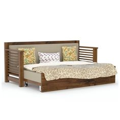 size: when closed and when opend Made for India. Strip Sofa cum bed is made of Indian sheeshamwood (Rosewood). This beautiful, strong and sturdy design polished gloss honey. This will be double bed as you open its dawn pullout trolly. Sofa Bed Wooden, Wood Sofa, Wooden Furniture, Bedroom Furniture, Bedroom Decor, Sofa Bed Brown, Sofa Bed Blue, Sofa Come Bed, Pull Out Sofa Bed