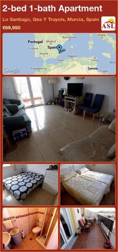 2-bed 1-bath Apartment in Lo Santiago, Gea Y Truyols, Murcia, Spain ►€69,950 #PropertyForSaleInSpain
