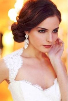 Elegant hair styles for wedding or prom