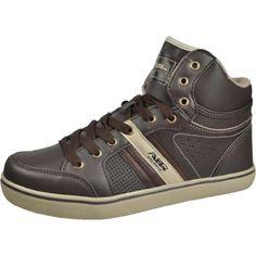 Air Balance Men's Brown/Beige Stylish High Top Fashion Sneakers Air Balance