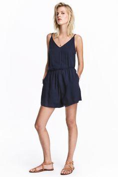 Playsuit - Dark blue - Ladies | H&M GB 1