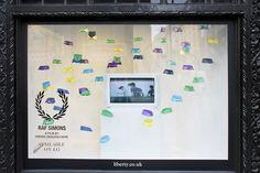 Raf Simons / Fred Perry Spring windows 2013 by StudioXAG, London visual merchandising