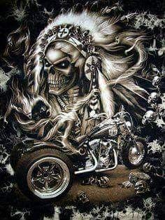 Old school vintage styled biker tattoos Motorcycle Art, Bike Art, Motorcycle Posters, Skull Pictures, Cool Pictures, Digital Art Illustration, Art Harley Davidson, Grim Reaper Art, Totenkopf Tattoos