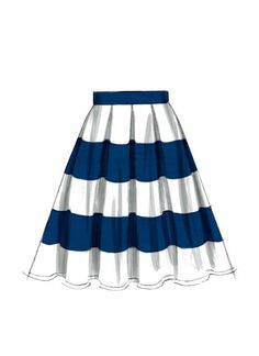 M6706 | McCall's Patterns I can see this flared skirt in some African fabric with the white oxford shirt I just bought. Yes!