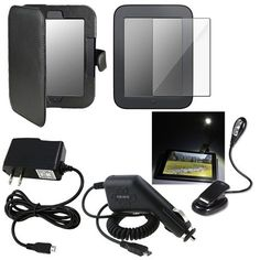 eForCity Screen Protector+Black Leather Case+AC+Car Charger+Light For Nook 2 Simple Touch by eForCity. $9.74. Compatible With B Nook 2