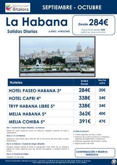 CUBA: Habana, salidas diarias Septiembre y Octubre, desde 284 € + tasas ultimo minuto - http://zocotours.com/cuba-habana-salidas-diarias-septiembre-y-octubre-desde-284-e-tasas-ultimo-minuto/