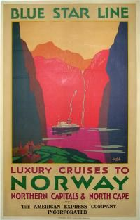 Vintage Norway travel poster