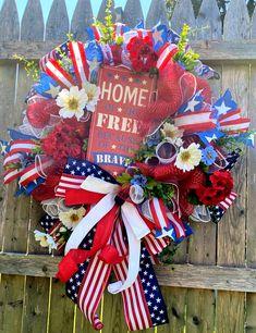 Trendy Tree, Mesh Wreaths, 4th Of July Wreath, Hot, Free, Decor, Decoration, Decorating, Deco Mesh Wreaths