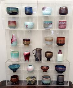 Selection of tea bowls etc Annie Jennings