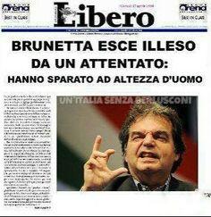 Attentato a Brunetta *