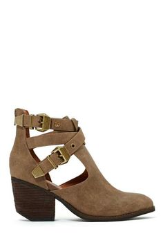 Jeffrey Campbell Everwell Ankle Boot - Taupe =