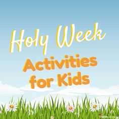 Encourage your child to understand the events leading up to Easter with these seven free, easy Holy Week Activities for Kids they'll love to do every year. Kids Sunday School Lessons, Sunday School Crafts, Lessons For Kids, Bible Lessons, Holy Week Activities, Bible Activities, Easter Activities, Activities For Kids, Holy Week For Kids