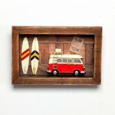 quadro surfista - MK Mania Presentes Criativos
