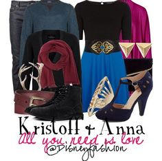 Kristoff and Anna outfits by Disney Bound
