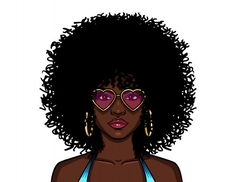 Woman With Curly Hair In Pink Sunglasses Hair Afro, Curly Afro, Curly Hair Styles, Natural Hair Styles, Pink Sunglasses, Woman Silhouette, Free Hair, Afro Hairstyles, Pink Hair