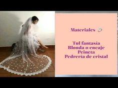 Cómo hacer un velo de novia 👰🏻 - YouTube Dress Sewing Patterns, Dream Wedding Dresses, Make It Yourself, Videos, Youtube, Blog, Barbie, Instagram, Molde