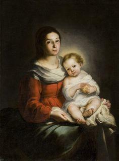 'La virgen con el Niño'. Bartolomé Esteban Murillo