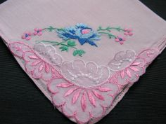 Wedding Hankerchief Pink Handkerchiefs Hankies by VintagebyTeresa, $18.99