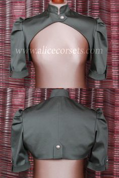 READY TO WEAR Military Steampunk Bolero Steam by AliceCorsets NSFW images for no apparent reason.