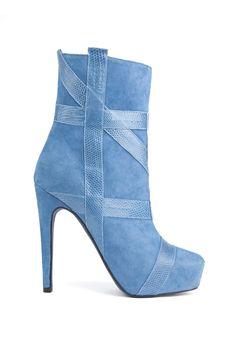 fall 2012, Aperlaï, shoes, boots + booties, high heels, blue