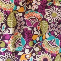 Vera Bradley fabric Plum Crazy Remnant 100% Cotton 1 Yard