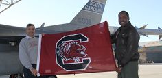McEntire Air National Guard Station shows its part of the University of South Carolina Gamecock family