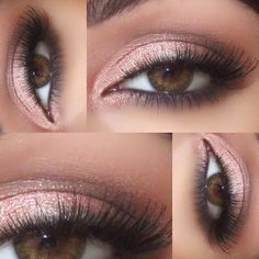 Smokey pink eyeshadow