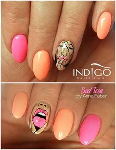 Bad Icon By Indigo Educator Anny Faber Nails Nail Pink