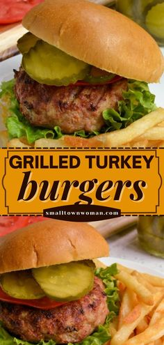 Say hello to your new go-to grilling recipe! Thanks to some tips, these homemade ground turkey burgers are juicy and delicious. Enjoy this summer dinner idea with your family again and again! Homemade Turkey Burgers, Ground Turkey Burgers, Grilled Turkey Burgers, Turkey Burger Recipes, Grilling Recipes, Grilling Ideas, Yum Yum Chicken, Stuffed Peppers, Ethnic Recipes