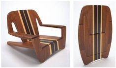 FAO beach chair developed by Junior Ramos for QuadranteStudio. Built in laminated wood . Folding Furniture, Smart Furniture, Space Saving Furniture, Plywood Furniture, Unique Furniture, Furniture Design, Plywood Interior, Plywood Walls, Furniture Showroom