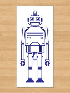 B12  Limited Screen Print of a Big Blue Robot  by strongedesigns, $12.00