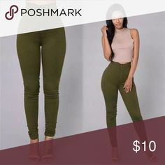 Fashion Ladies Stretch Skinny High Waist Pants Fashion Design! Brand New! Material: Cotton Blend / Polyester Type: Skinny Leggings Size: Asian S  Color: As Picture Show Pants Leggings