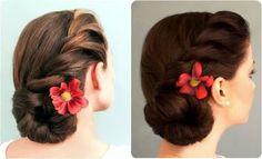 ผลการค้นหารูปภาพสำหรับ updo diy for medium length hair