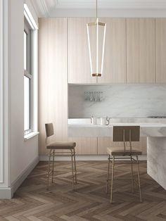 herringbone wood floors modern kitchen                                                                                                                                                                                 More
