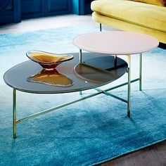 Glass Geo Stepped Coffee Table #westelm