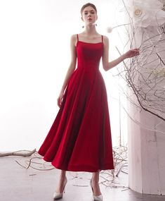 Bridesmaid Dresses Plus Size, Plus Size Dresses, Bridesmaid Gowns, Pretty Dresses, Beautiful Dresses, Elegant Dresses, Awesome Dresses, Ankle Length Skirt, Red Floor Length Dress