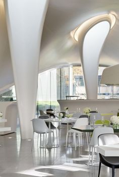 The Magazine Restaurant at the Serpentine Sackler Gallery London by Zaha Hadid Architects