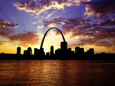 Beautiful St. Louis skyline