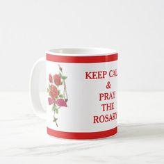 ROSES ROSARY KEEP CALM CRUCIFIX