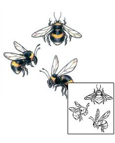 This Bee tattoo design from our Insects tattoo category was created by Gail Somers. This download Includes a printable full size color reference, and professional matching stencil. Tattoo Johnny's mission is to help you get the perfect tattoo!