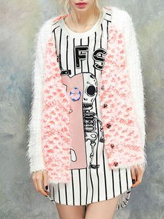 Color-block Knitted Cardigan