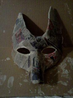 paper mache coyote mask - to make? #burningman