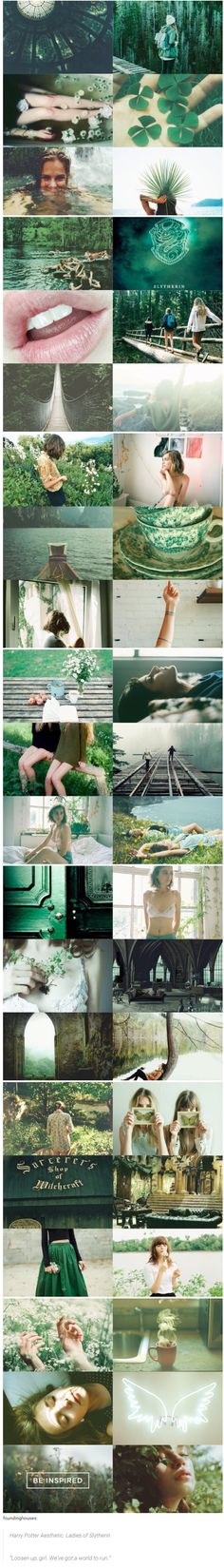 """foundinghouses: Harry Potter Aesthetic: Ladies of Slytherin 