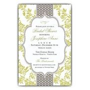 Fancy Moss Gray Dot Bridal Shower Invitations | PaperStyle
