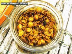 Ponto de Rebuçado Receitas: Granola de amendoim