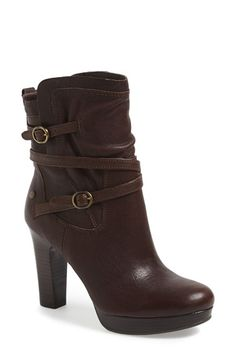 Free shipping and returns on UGG® Australia 'Olivia' Boot (Women) at Nordstrom.com. Delicate oval buckles stud the slender straps wrapping a slightly slouchy bootie styled with a stacked-to-strut heel.