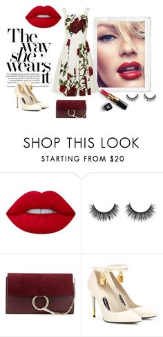 """""""""""Take me back to a time only we knew...Hideaway"""" - ROSES"""" by diferentprincess ❤ liked on Polyvore featuring Victoria's Secret, Lime Crime, Chanel, Chloé, Tom Ford, Dolce&Gabbana, red, TOMFORD, dolceandgabanna and chole"""